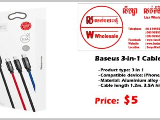 Baseus 3-in-1 Cable