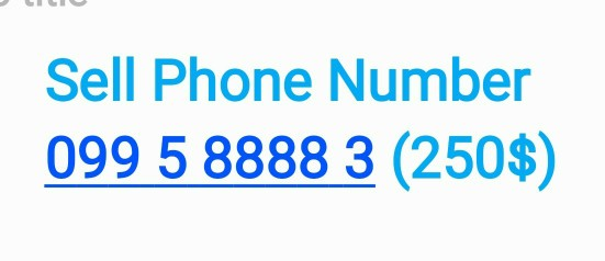 Sell phone number
