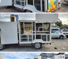 Coffee Truck for sale TV, Air condition, 2 security camera that covers inside and outside. I made it