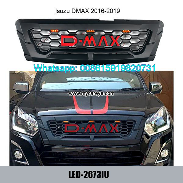 Isuzu Dmax Grills Car Front Bumper Grille With LED
